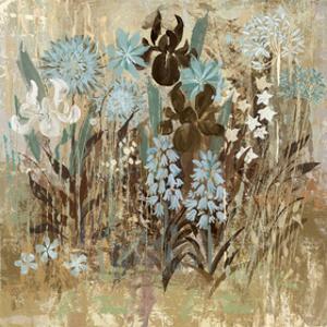 Floral Frenzy Blue I by Alan Hopfensperger