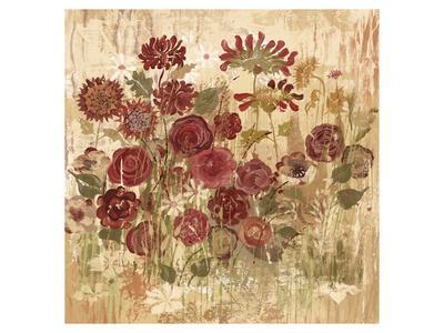 Floral Frenzy Burgundy II