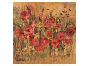 Floral Frenzy Red I by Alan Hopfensperger