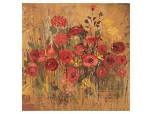 Floral Frenzy Red II by Alan Hopfensperger