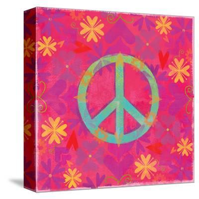 Peace Sign Floral Hearts II