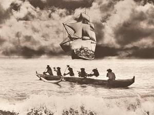 Captain Cook's Return Hawaiian Outrigger Canoe (Waʻa) by Alan Houghton