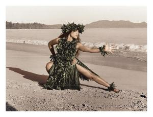 Dance of the Turtle, Hawaiian Hula Dancer by Alan Houghton