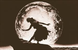 Full Moon Hula Dancer by Alan Houghton