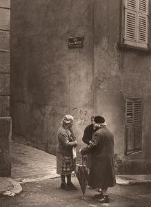 Gossiping - French Women - Bezannes, France by Alan Houghton