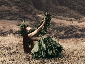 Offering to Pele, Hawaiian Hula Dancer by Alan Houghton