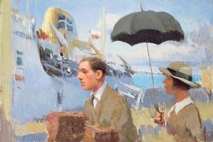 Arrival of the Scillonian, 2003 by Alan Kingsbury