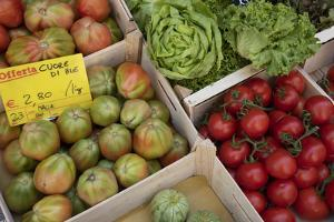 Italy, Genoa Province, Rapallo. Fresh produce in outdoor market by Alan Klehr