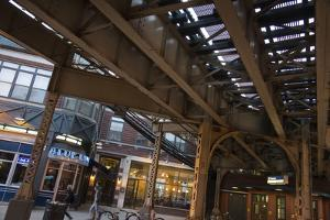 The Tracks of the Blue Line Elevated Train in Wicker Park, Chicago by Alan Klehr