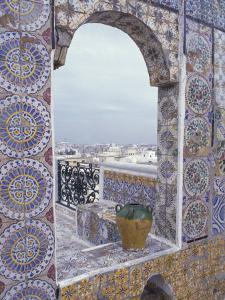 Tunis Ornate tiles on rooftop, Tunisia by Alan Klehr
