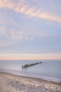 Lake Superior seen from beach at Whitefish Point, Upper Peninsula, Michigan by Alan Majchrowicz