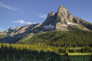 Liberty Bell Mountain and Early Winters Spires, Washington Pass. North Cascades, Washington State by Alan Majchrowicz