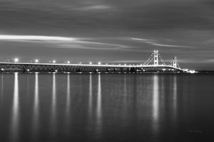 Mackinac Bridge BW by Alan Majchrowicz