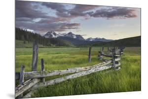 USA, Idaho. Wetlands in Stanley Basin, Sawtooth Mountains. by Alan Majchrowicz
