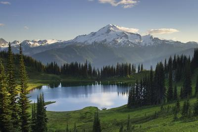 USA, WA. Image Lake and Glacier Peak from Miner's Ridge, Glacier Peak Wilderness North Cascades