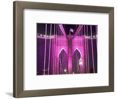 Brooklyn Bridge Lit Purple