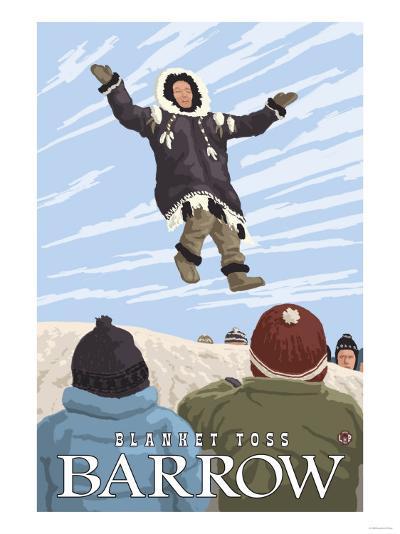 Alaska Blanket Toss, Barrow, Alaska-Lantern Press-Art Print