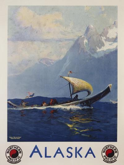 Alaska - Northern Pacific Railway Travel Poster-Sidney Laurence-Giclee Print