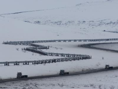 Alaska Pipeline and the Dalton Highway, Alaska-Michael S^ Quinton-Photographic Print