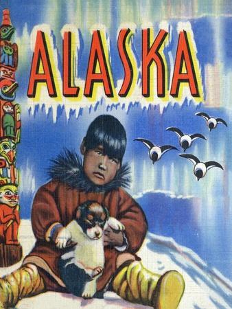 https://imgc.artprintimages.com/img/print/alaska-view-of-a-native-child-holding-a-puppy-totem-pole-and-penguins_u-l-q1goj4c0.jpg?p=0