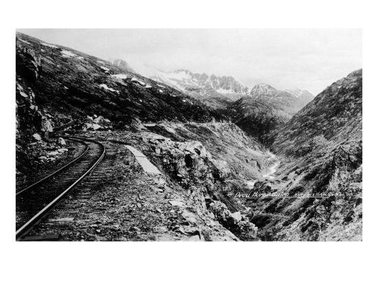 Alaska - View of Dead Horse Gulch along White Pass and Yukon Route-Lantern Press-Art Print