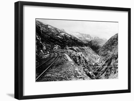 Alaska - View of Dead Horse Gulch along White Pass and Yukon Route-Lantern Press-Framed Art Print