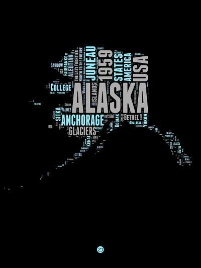 Alaska Word Cloud 1-NaxArt-Art Print