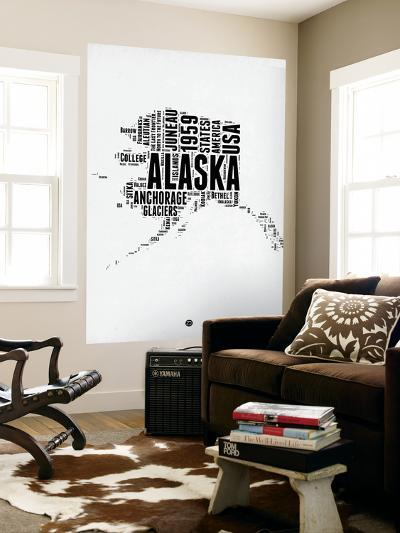 Alaska Word Cloud 2-NaxArt-Wall Mural