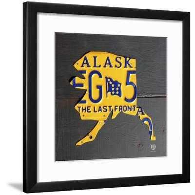 Alaska-Design Turnpike-Framed Giclee Print
