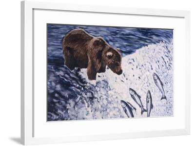 Alaskan Brown Bear, 2002-Joe Heaps Nelson-Framed Giclee Print