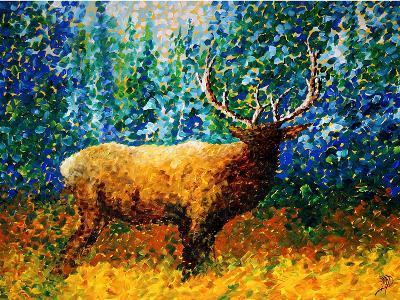 Alaskan Elk-Megan Aroon Duncanson-Art Print