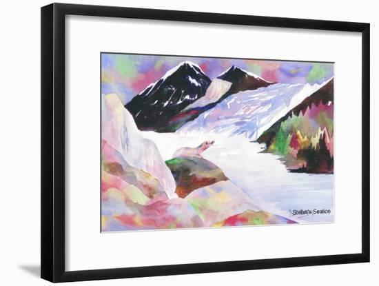 Alaskan sea lion-Neela Pushparaj-Framed Giclee Print