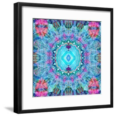 A Blue Water Mandala from Flower Photographs