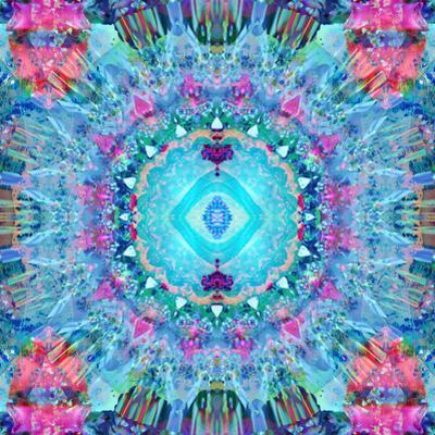 A Blue Water Mandala from Flower Photographs
