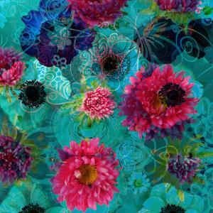 A Floral Montage from Blossoms and Drawing by Alaya Gadeh