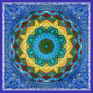 A Mandala Ornament from Flowers, Photograph, Many Layer Artwork by Alaya Gadeh