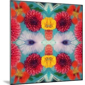 Blossoms in Blue Water Symmetric Layer Work by Alaya Gadeh