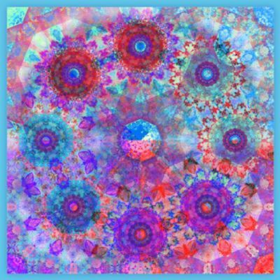 Blue Pink Blossom Sky Mandala