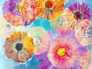 Colorful Photographic Layer Work of Blossoms by Alaya Gadeh