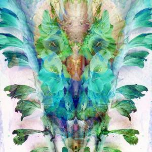 Colorful Symmetric Layer Work from Gladiolus Blossoms in Blue by Alaya Gadeh