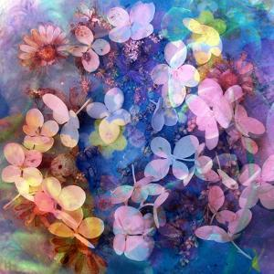 Colorful Translucent Layer Work from Orchid and Hydrangea by Alaya Gadeh