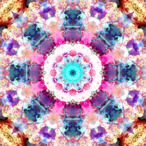 Composing of Flowers in a Mandala Ornament by Alaya Gadeh