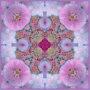 Ornamental Blossoms Mandala by Alaya Gadeh