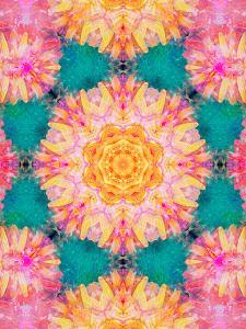 Photographic Mandala Ornament from Flowers by Alaya Gadeh