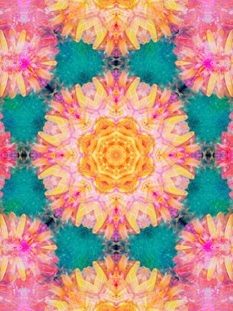 Photographic Mandala Ornament from Flowers