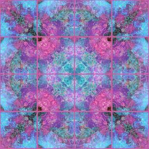 Pink Blueberry Cross Mandala Tiles by Alaya Gadeh