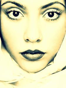 Portrait of Angela Mengoa in Monotone Color by Alaya Gadeh