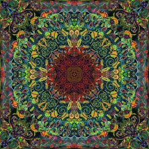 Symmetrical Ornaments, Mandala, Colourful, Hand-Signed by Alaya Gadeh