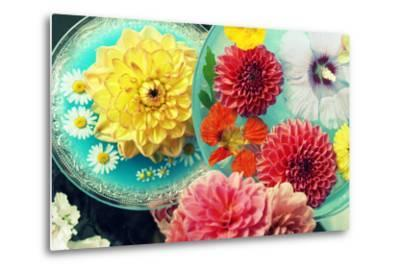 Table Decoration, Coloured Blossoms and Water Bowl