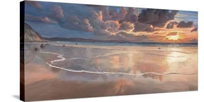 Alba sul mare-Adriano Galasso-Stretched Canvas Print